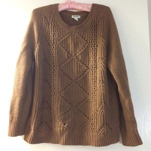 Brown knit old navy pullover sweater